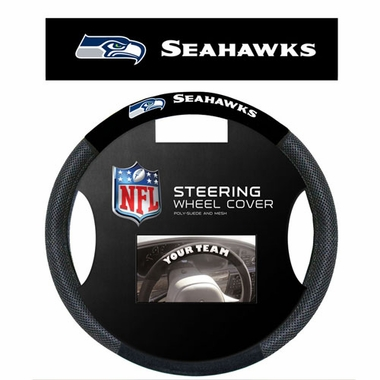 Seattle Seahawks Steering Wheel Cover - Mesh
