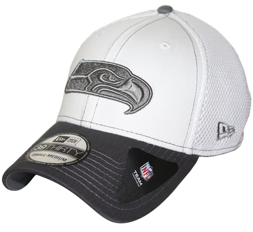 c0aead8edaa Seattle Seahawks New Era 39THIRTY Blitz Neo Fitted Hat - Gray