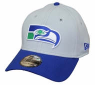 lowest price b6e93 bfa0b Seattle Seahawks New Era 39THIRTY Historic Throwback Flex Fit Hat - Gray