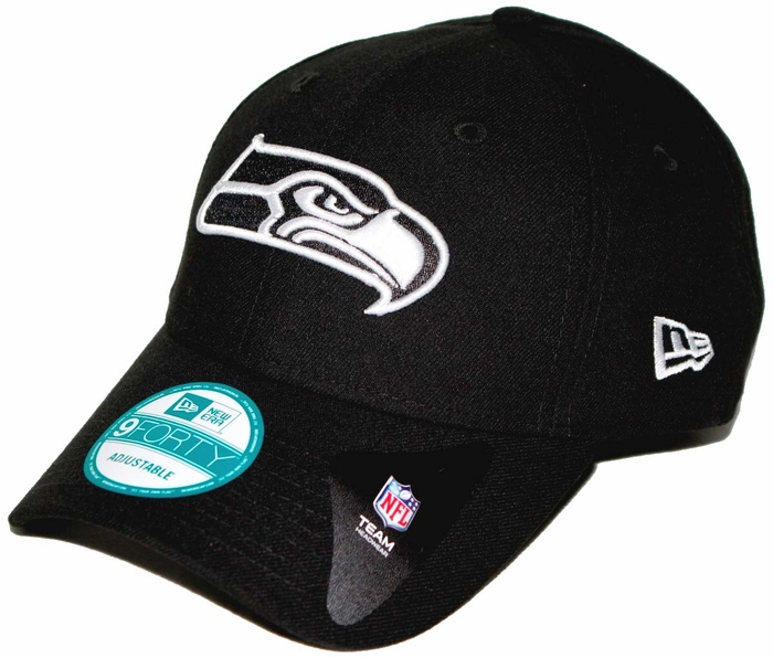 7bd5c260d51 Seattle Seahawks New Era 9Forty The League Adjustable Hat - Black