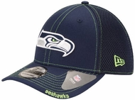 a435aa38710 Seattle Seahawks New Era NFL 39THIRTY Blitz Neo Fitted Hat - Navy