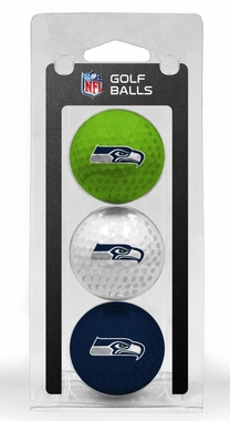 Seattle Seahawks Set of 3 Multicolor Golf Balls