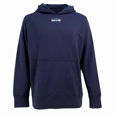 Seattle Seahawks Mens Signature Hooded Sweatshirt (Color: Navy)