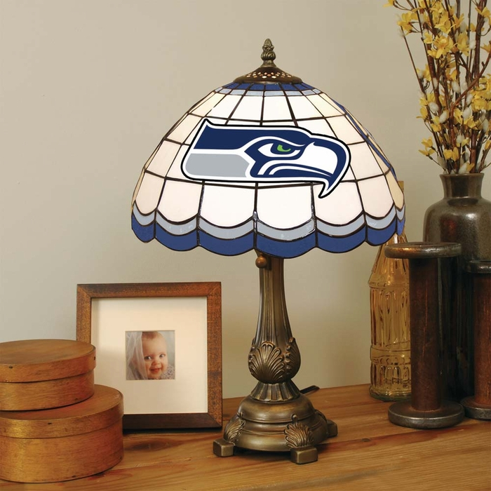 Seahawks Stained Glass Table Lamp