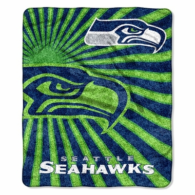 Seattle Seahawks Super-Soft Sherpa Blanket