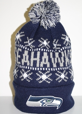 Seattle Seahawks Tip Off Cuffed Knit Hat