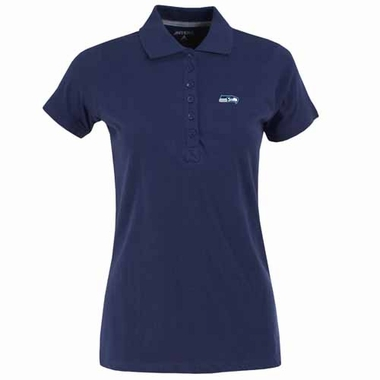 Seattle Seahawks Womens Spark Polo (Color: Navy)
