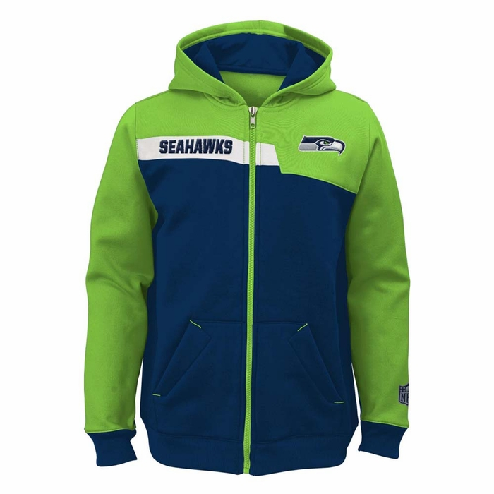 Seattle Seahawks Youth Resilient Full Zip Performance Sweatshirt