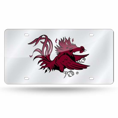 South Carolina Deluxe Mirrored Laser Cut License Plate