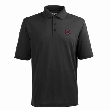 South Carolina Mens Pique Xtra Lite Polo Shirt (Color: Black)
