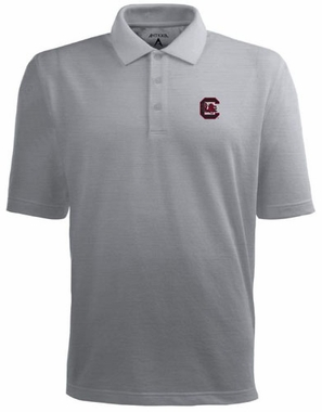 South Carolina Mens Pique Xtra Lite Polo Shirt (Color: Gray)