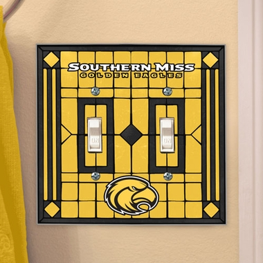 Southern Miss Art Glass Lightswitch Cover (Double)