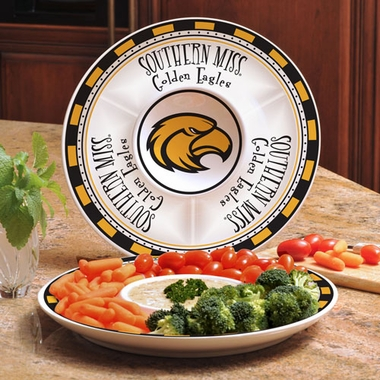 Southern Miss Ceramic Chip and Dip Plate