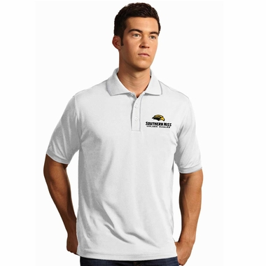 Southern Miss Mens Elite Polo Shirt (Color: White) - Large