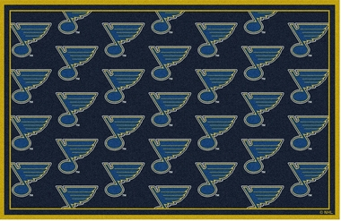"St Louis Blues 7'8 x 10'9"" Premium Pattern Rug"