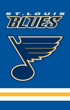 St Louis Blues Applique Banner Flag