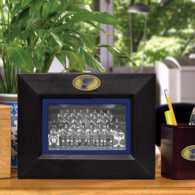 St Louis Blues BLACK Landscape Picture Frame