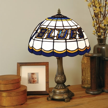 St Louis Blues Stained Glass Table Lamp