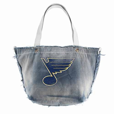 St Louis Blues Vintage Tote (Denim)