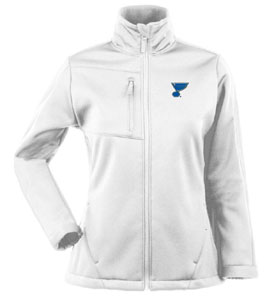 St Louis Blues Womens Traverse Jacket (Color: White) - Small