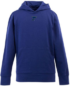 St Louis Blues YOUTH Boys Signature Hooded Sweatshirt (Color: Royal) - Large
