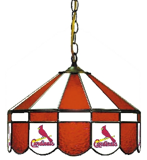 St Louis Cardinals 16 Inch Diameter Stained Glass Pub Light