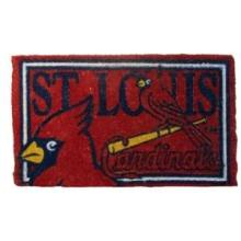St Louis Cardinals 18x30 Bleached Welcome Mat