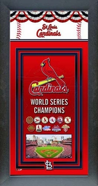 St. Louis Cardinals 2011 World Series Champions Framed Championship Banner
