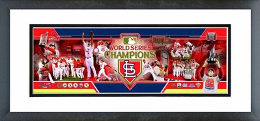 St. Louis Cardinals 2011 World Series Champions Framed / Double Matted Photoramic