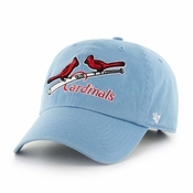 St. Louis Cardinals 47 Brand Cooperstown Clean Up Adjustable Hat - Lt Blue 388d5a7909f