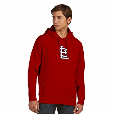 St Louis Cardinals Mens Big Logo Signature Hooded Sweatshirt (Color: Red)