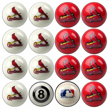 St Louis Cardinals Home and Away Complete Billiard Ball Set