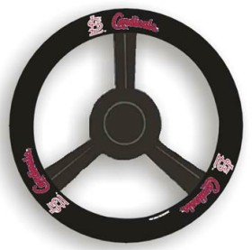 St. Louis Cardinals Steering Wheel Cover - Leather