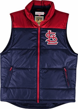 St. Louis Cardinals Mitchell & Ness MLB Winning Team Throwback Snap Vest Jacket