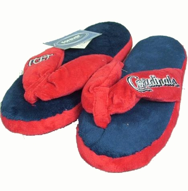 St Louis Cardinals Plush Thong Slippers