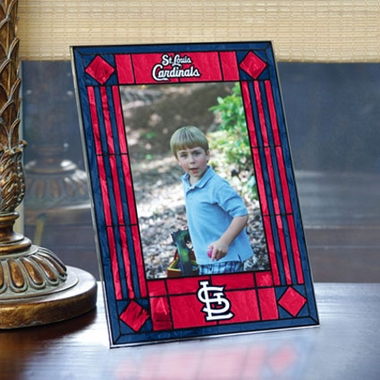 St Louis Cardinals Portrait Art Glass Picture Frame