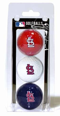 St Louis Cardinals Set of 3 Multicolor Golf Balls