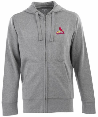 St Louis Cardinals Mens Signature Full Zip Hooded Sweatshirt (Color: Silver)