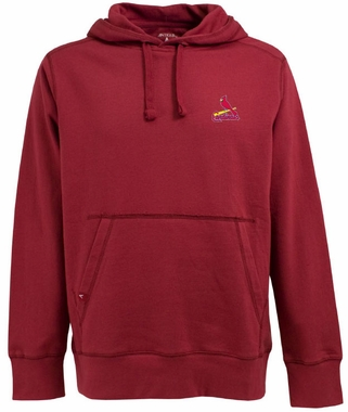 St Louis Cardinals Mens Signature Hooded Sweatshirt (Color: Red)