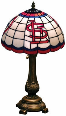 St Louis Cardinals Stained Glass Table Lamp