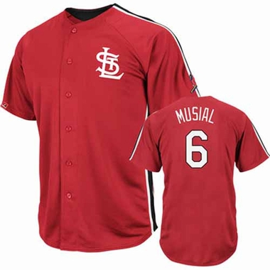 St. Louis Cardinals Stan Musial Crosstown Rivalry Cooperstown Jersey
