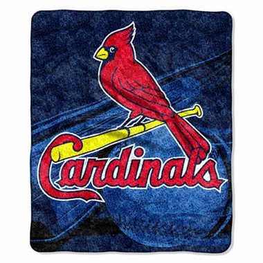 St Louis Cardinals Super-Soft Sherpa Blanket