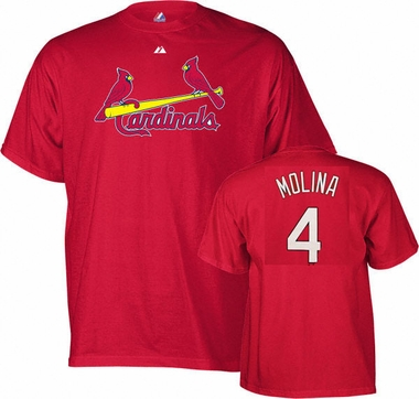 St Louis Cardinals Yadier Molina Name and Number T-Shirt