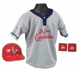 St. Louis Cardinals Baseball Helmet and Jersey Set