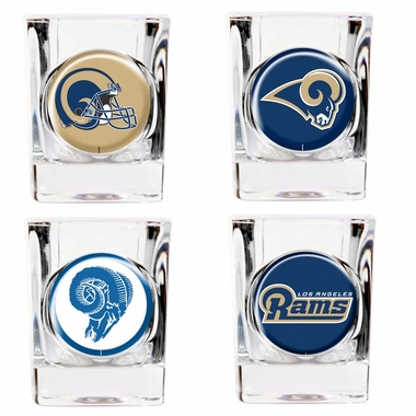 Los Angeles Rams 4 Piece Assorted Shot Glass Set