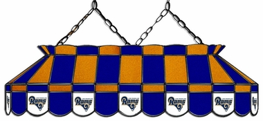 Los Angeles Rams 40 Inch Rectangular Stained Glass Billiard Light