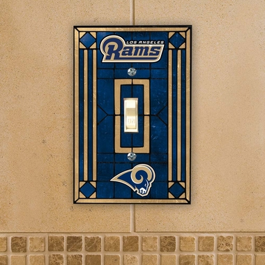 Los Angeles Rams Art Glass Lightswitch Cover
