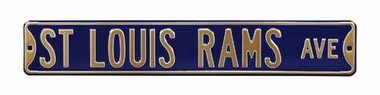 St. Louis Rams Ave Street Sign