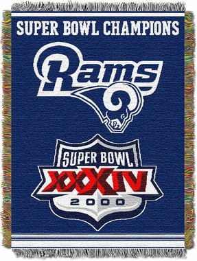 St Louis Rams Commerative Jacquard Woven Blanket
