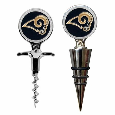 Los Angeles Rams Corkscrew and Stopper Gift Set